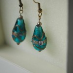 Ian Rosenberg Jeweller - Green glass earrings (Copy)