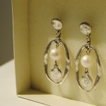 Ian Rosenberg Jeweller - Silver and pearl drop earrings (Copy)